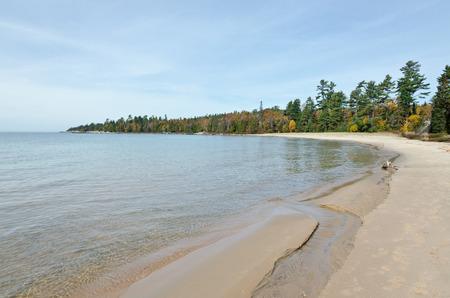 superior: Superior Lake in fall time, Ontario, Canada Stock Photo