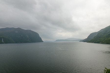 fjord: Fjord fall view in overcast day.  (Norway)