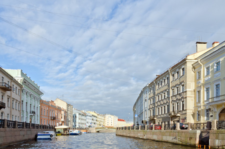 st  petersburg: View of St. Petersburg and Neva river in the evening