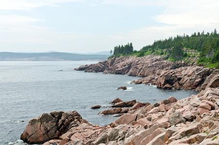 nova scotia: Coastline of Breton Highlands national park in Nova Scotia, Canada