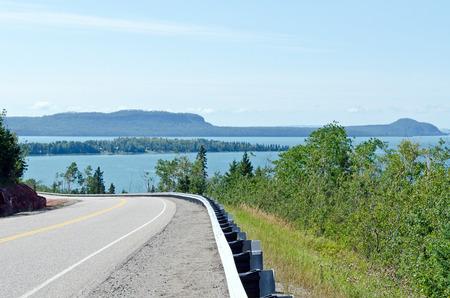 chad: TransCanada highway along Superior Lake shore