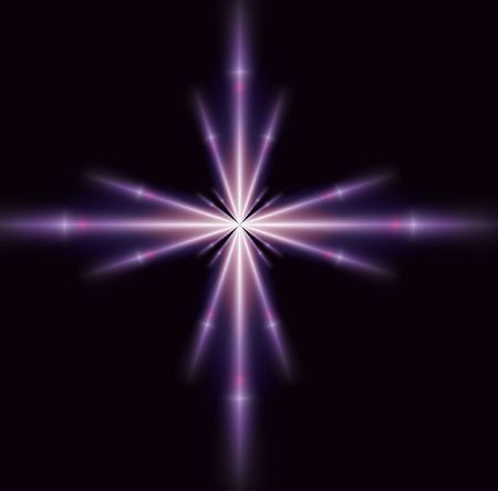 brilliance: A single purple brilliance star, good for design and background Stock Photo