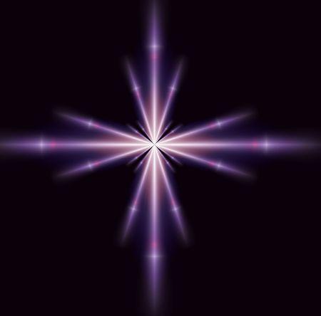 Un unico viola brillantezza stella, buona per la progettazione e lo sfondo