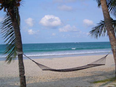 Hammock alla spiaggia Bintan Indonesia