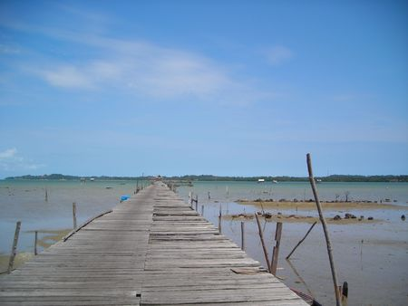 A stretch of wooden jetty found at Bintan Indonesia
