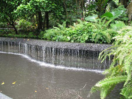 Small Waterfall found at Singapore Botanical Gardens