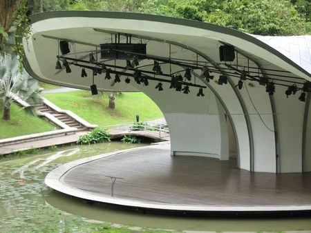 amphitheatre: Open air stage or amphitheatre found at the Singapore Botanical Gardens