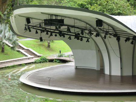 Palcoscenico o anfiteatro trovato a Singapore Orto Botanico  Archivio Fotografico