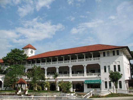 Casa colonica a sinistra dietro dai britannici a Singapore
