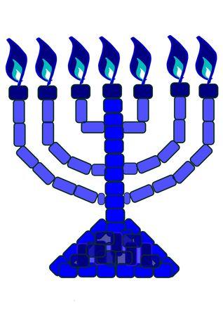 Un blu lampstand simboleggia divina rivelazione da Dio.