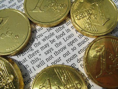 Malachia 3:10 Portate tutta la decima in magazzino, che non vi pu� essere cibo in casa mia. Prova a me in questo,  Archivio Fotografico