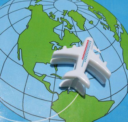 Symbolism of travelling around the world. Stock Photo - 865014