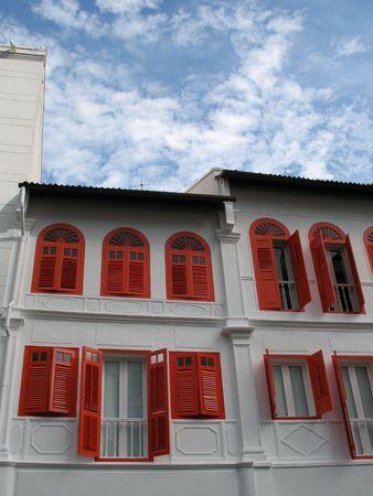 Un edificio pieno di rosso tradizionale cinese finestra