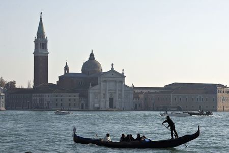 punting: Venice gondolier