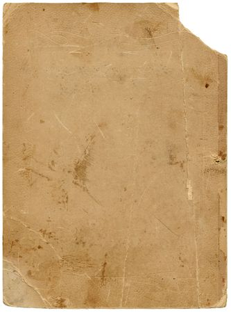 tatter: Antiguo papel con textura tattered borde y saturaci�n camino. Aislado en blanco.