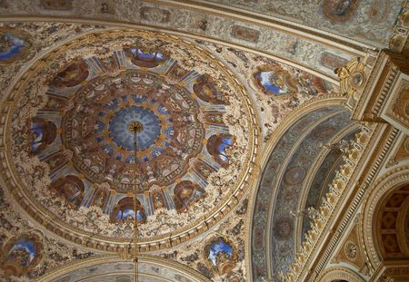 build in: Roof in Dolmabahche Palace, Istanbul, Turkey.This palace was build in 1853 year.