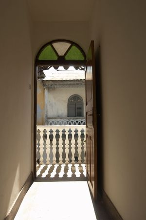 Open Door.View outside at old town. Stock Photo - 849592