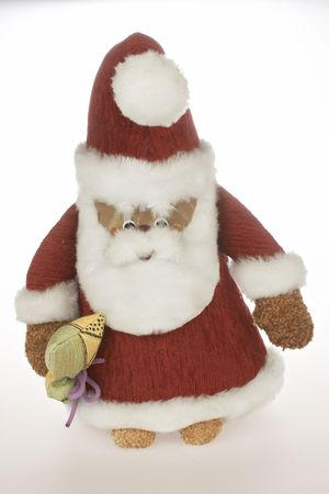goodies: Santa Claus with bag of goodies  Stock Photo