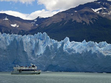 The Perito Moreno Glacier in Patagonia, Argentina.Lake Argentino, El Calafate photo