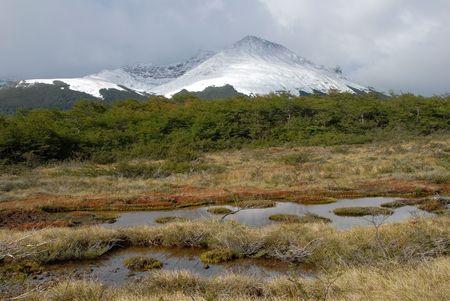 fuego: Landscape of Tierra Del Fuego near Ushuaia. Argentina.