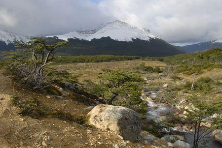 tierra: Landscape at Tierra Del Fuego near Ushuaia. Argentina. Stock Photo