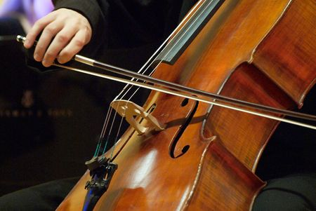 violoncello: Violoncello musician.Boy playing her violoncello at the concert.