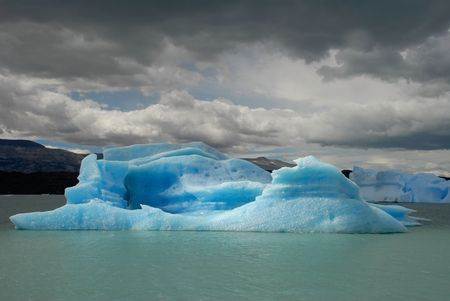 Iceberg in lake Argentino near Upsala glacier.Patagonia, Agrentina. photo