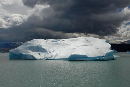 upsala: Iceberg in lake Argentino near Upsala glacier.Patagonia, Agrentina. Stock Photo