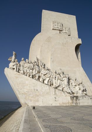 belem: Padrao dos Descobrimentos (Monument to the Discoveries). It is located in the Belem district of Lisbon, Portugal.