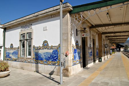 douro: A Railway Station in the central Douro Region.Point og interest in Portugal