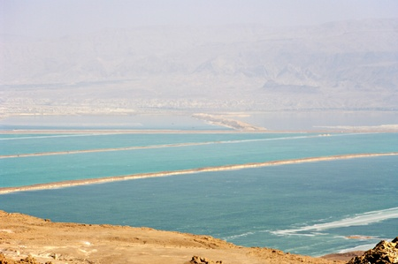 Dead Sea view, lowest place on earth.  photo
