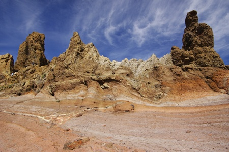 Los Roques at El Teide National Park, Tenerife, Canary Islands. Spain. photo