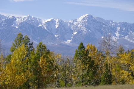 altay: Very beautiful autumn Altay mountainsAltay State Nature Reserve