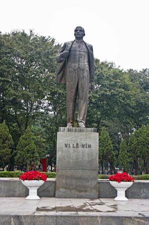 character traits: Statue of Lenin in central hanoi, Vietnam Stock Photo