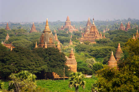 stupas: Temples of Bagan  Myanmar  Burma  There are over 4,000 temples and other religious structures at Bagan, Myanmar  Burma