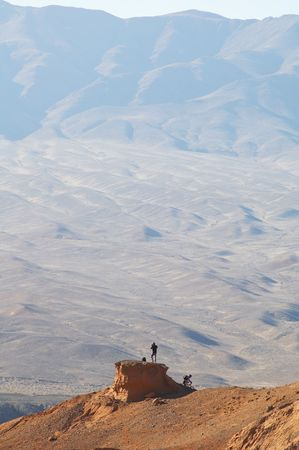 Little man in Mountain photo