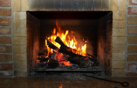 soot: Fireplace and fire