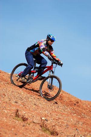 Mountain bike downhill photo