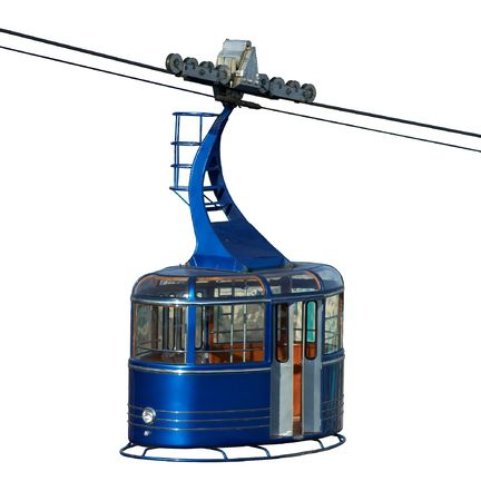 Empty city cablecar isolated