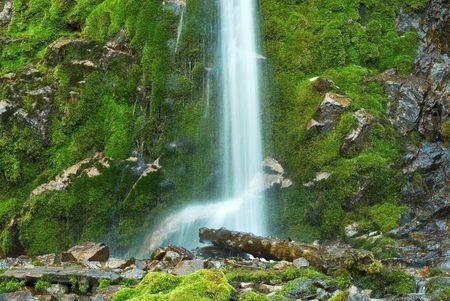 murmur: Waterfall Location:Kazakhstan, TyanShan mountains, Gorelnik gorge Stock Photo