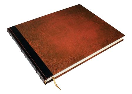 Large book isolated with clipped path photo