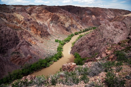 River in Charyn canyon in the Kazakhstan Stock Photo - 11855625
