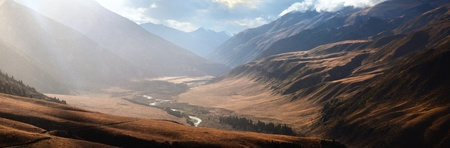 Autumn in the valley Chilik, the Tien-Shan Mountains, Kazakhstan photo