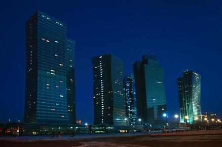 astana: Night city of Astana - the capital of Kazakhstan