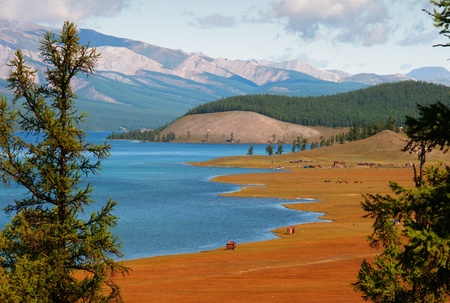 Hovsgol - largest lake in Mongolia