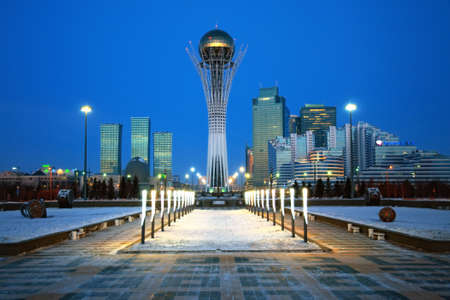 Central area of the city of Astana - the capital of Kazakhstan