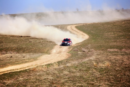 racecar: ALMATY, KAZAKHSTAN - APRIL 9: Kazanovsky and Li (2) in action at auto competition  Editorial