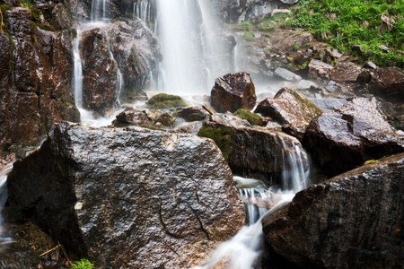 Close-up of the Butakovka waterfall, Kazakhstan Stock Photo - 13604919