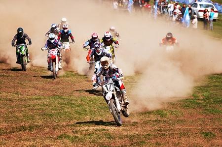 ALMATY, KAZAKHSTAN - APRIL 22: Motocross competition
