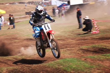 ALMATY, KAZAKHSTAN - APRIL 22 I.Kostykov (N11) at the Motocross competition